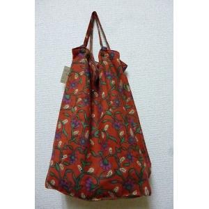 エコバッグ レッド 折りたたみバッグ 携帯バッグ レジバッグ ハンドバッグ ミニバッグ 布バッグ レディースバッグ lakshmi2011