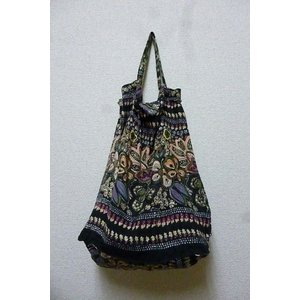 エコバッグ ブラック 折りたたみバッグ 携帯バッグ レジバッグ ハンドバッグ ミニバッグ 布バッグ lakshmi2011