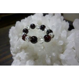 天然石 パワーストーン リング ガーネット 水晶 1月誕生石 フリーリング レディースリング 指輪|lakshmi2011