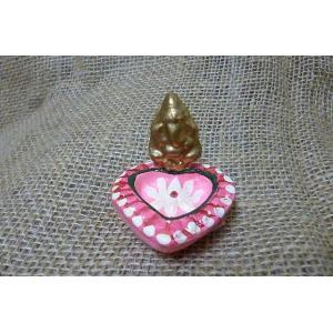 お香立て ガネーシャピンク コーン香立て 商売繁盛 学問の神様 開運 インドの神様|lakshmi2011