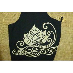 斜めかけバッグ ロータス ブラック 蓮 エスニックバッグ 花柄 ショルダーバッグ ユニセックス lakshmi2011