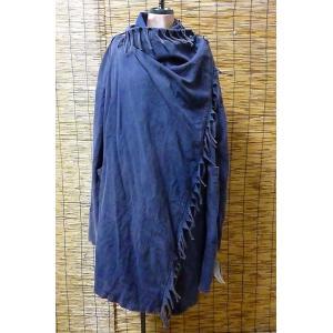 フリンジコート ブルー系 旅人風コート 前合わせ羽織 エスニックコート ユニセックスアウター メンズコート lakshmi2011