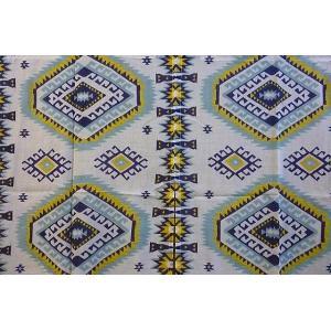 のれんロング エスニック柄ブルー系 のれん150×90 エスニック柄 仕切り エスニックのれん 暖簾 クリックポスト¥185 lakshmi2011