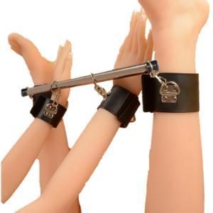 コスプレ 拘束具 固定拘束 スチール拘束棒 手枷 足枷 調教 開脚 撮影会 小道具 男女兼用