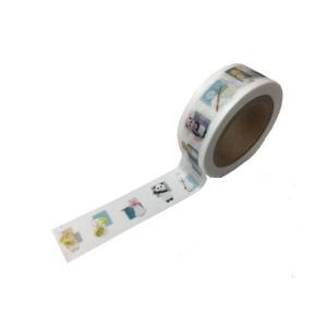 LALACHYANオリジナルデザインマスキングテープ 103001(エンジョイブラスバンド白) lalachyan