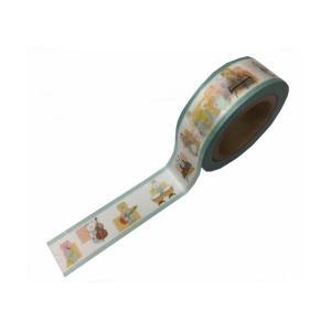 LALACHYANオリジナルデザインマスキングテープ 103003(エンジョイブラスバンド水色) lalachyan