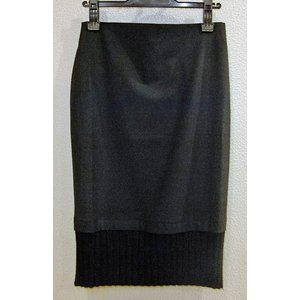 【 A.Gaspari 】 黒・ジッパー付スカート|lalala-33