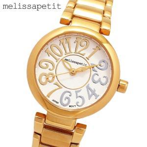 送料無料 女性用 腕時計 正規品 melissapetit メリッサプティ コンビカラーインデックス・レディース腕時計|lalalady-shop
