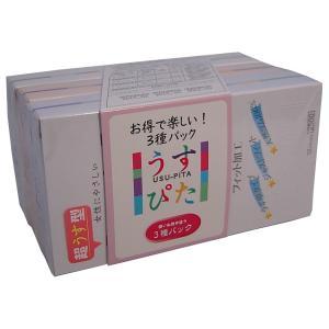 衛生用品 避妊具 コンドーム うすぴた 3種パック 12個入x3パック lalalady-shop
