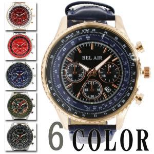 男性用 腕時計 Bel Air collection メンズパイロットウォッチ|lalalady-shop
