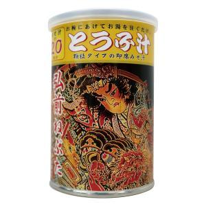 かねさ顆粒みそ汁 とうふ 弘前ねぷた缶 115g 約20杯分|lalasite