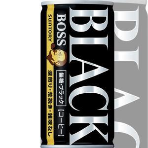 ボス 無糖ブラック 185g×30本入 BOSS サントリー ※2ケースまで同梱可 缶コーヒー|lalasite