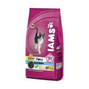 アイムス[IAMS] 毛玉ケア シニア用 7歳 厳選白身魚味 1.8kg