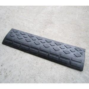 「段差プレート」「幅60cm×高さ4.5cm対応」ロードスロープ G6005  60×15×4.5cm「ゴム製で滑りにくく跳ね上がりの騒音軽減」|lamd