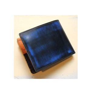 パーリィークラシック 二つ折り財布[カード用] PC-06 ロイヤルブルー|lamd