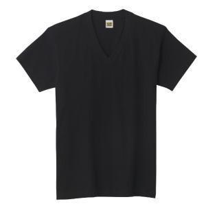 グンゼ GTホーキンス VネックTシャツ 2枚組 HK10152 クロ L|lamd