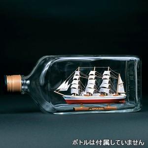 ウッディジョー  木製帆船模型 ボトルシップ 日本丸 レーザーカット加工|lamd