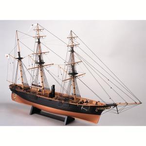ウッディジョー 木製帆船模型 1/75 咸臨丸 帆無しレーザーカット加工|lamd
