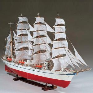 ウッディジョー 木製帆船模型 1/80 日本丸 レーザーカット加工|lamd