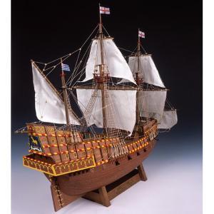 「送料無料」[お取寄せ]  ウッディジョー 木製帆船模型 1/50 ゴールデンハインド レーザーカット加工 |lamd