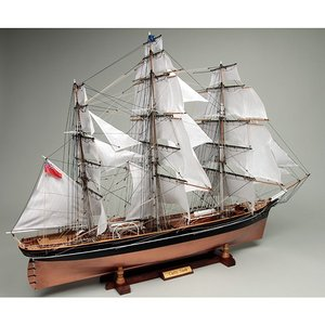 ウッディジョー 木製帆船模型 1/80 カティサーク  帆付 レーザーカット加工|lamd