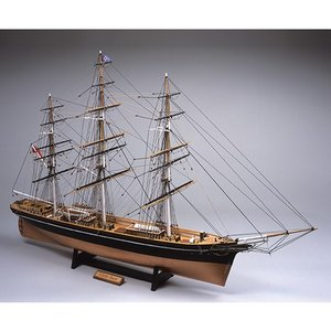 「送料無料」[お取寄せ]  ウッディジョー 木製帆船模型 1/100 カティサーク [帆無し] レーザーカット加工 |lamd