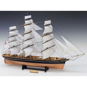 ウッディジョー 木製帆船模型 1/100 カティサーク  帆付き レーザーカット加工|lamd