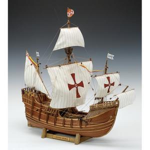 ウッディジョー 木製帆船模型 1/50 サンタマリア レーザーカット加工 lamd