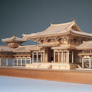 ウッディジョー 木製建築模型 「1/75 平等院 鳳凰堂」レーザーカット加工|lamd