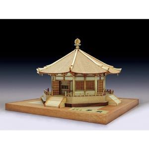 ウッディジョー 木製建築模型 1/150 法隆寺 夢殿 lamd