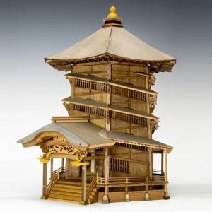 ウッディジョー 木製建築模型1/75 会津さざえ堂|lamd