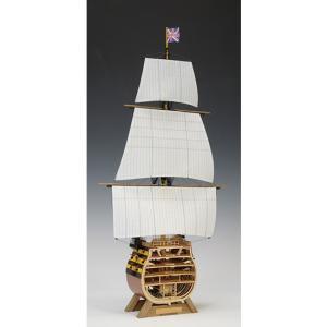 ウッディジョー 木造帆船模型 1/160 ビクトリー カットモデル 帆付 lamd