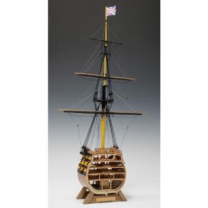 ウッディジョー 木造帆船模型 1/160 ビクトリー カットモデル 帆無 lamd