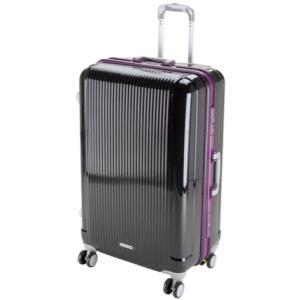 「大型便・時間指定不可」 グレル トラベルスーツケース TSAロック付 ハードフレームタイプ L ブラック UV-10|lamd
