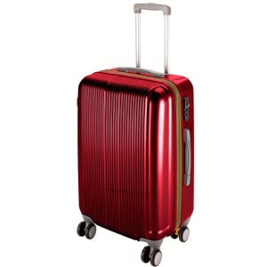 【送料無料】 グレル トラベルスーツケース TSAロック付 ダブルファスナータイプ M ワインレッド UV-26|lamd