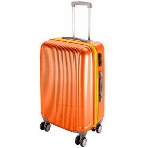 【送料無料】 グレル トラベルスーツケース TSAロック付 ダブルファスナータイプ M サンセットオレンジ UV-41|lamd