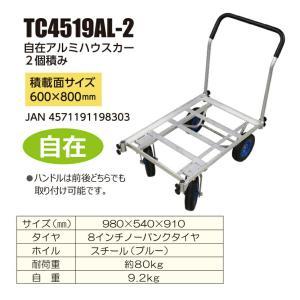 「メーカー直送 代引不可」シンセイ アルミハウスカー 2ケ積み自在 TC4519AL-2 lamd 02