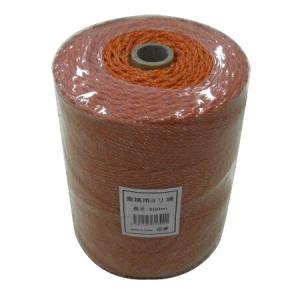 「メーカー直送 代引不可」シンセイ 電柵ロープ・ヨリ線 オレンジ 500m|lamd