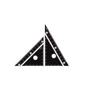 レイメイ 見やすい白黒三角定規 10cm ブラック APJ251B|lamd