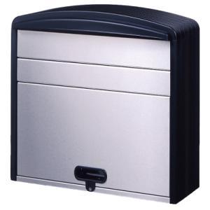 メイワ 樹脂&ステンレスポスト PS-360 ブラック|lamd