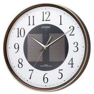 CITIZEN シチズン ソーラー電源電波掛時計 エコライフM807 4MY807-023 掛け時計|lamd
