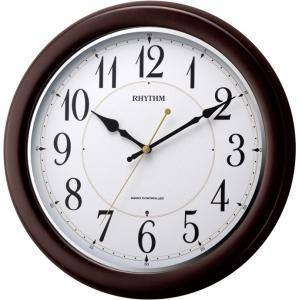 「数量限定」 リズム時計 電波掛時計 フィットウェーブコート 8MYA25SR06 lamd