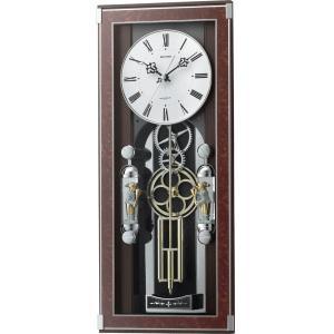 リズム時計 掛時計 電波からくり時計 ソフィアーレプリモ 4MN535SR23 lamd