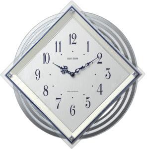 リズム時計 掛時計 電波時計 ビュレッタ 4MX405SR03 lamd