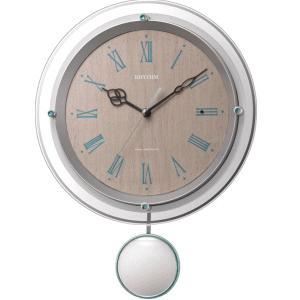 リズム時計 掛時計 電波時計 ソフレール 8MX404SR03 lamd