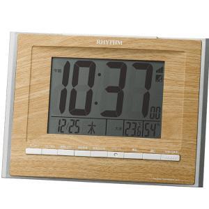 リズム時計 電波めざまし時計 置掛兼用 フィットウェーブD172 8RZ172SR07 lamd