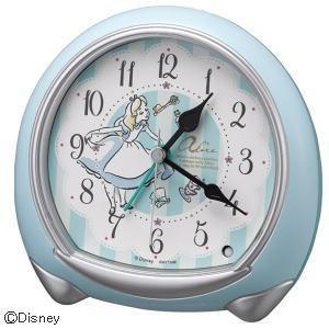 「送料無料」 リズム時計 キャラクター目覚し時計 アナログめざまし/アリス 8RE664MC04|lamd
