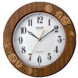 「送料無料」 リズム時計 象嵌細工電波時計 アマービレM520 8MY520SR06