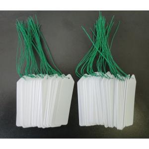 自然 園芸吊り式ラベル(ビニール) 白 50枚入 727673