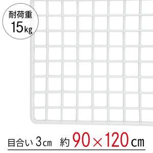 「大型便・時間指定不可」ワイヤーネット 白 90×120|lamd